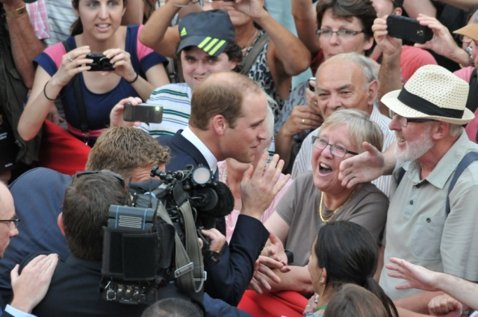 They love him! William greets well-wishers in Valletta